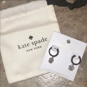 NWT Sparkly Kate Spade Drop Flower CZ Earrings